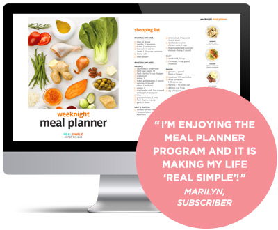 Real Simple Weeknight Meal Planner