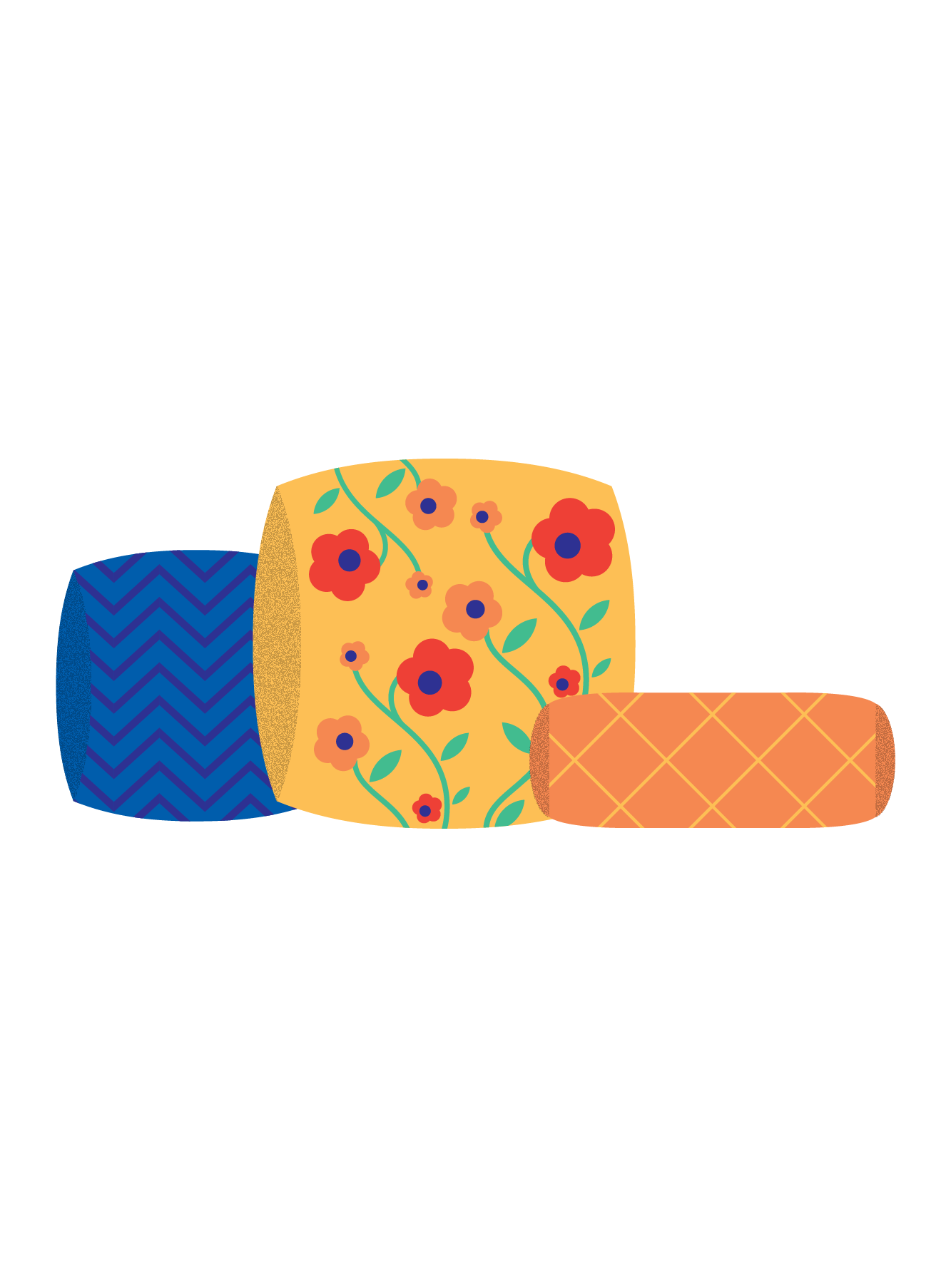 Illustration of pillows
