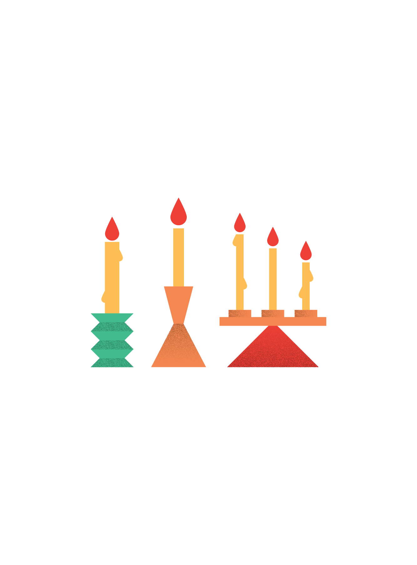 Illustration of candles