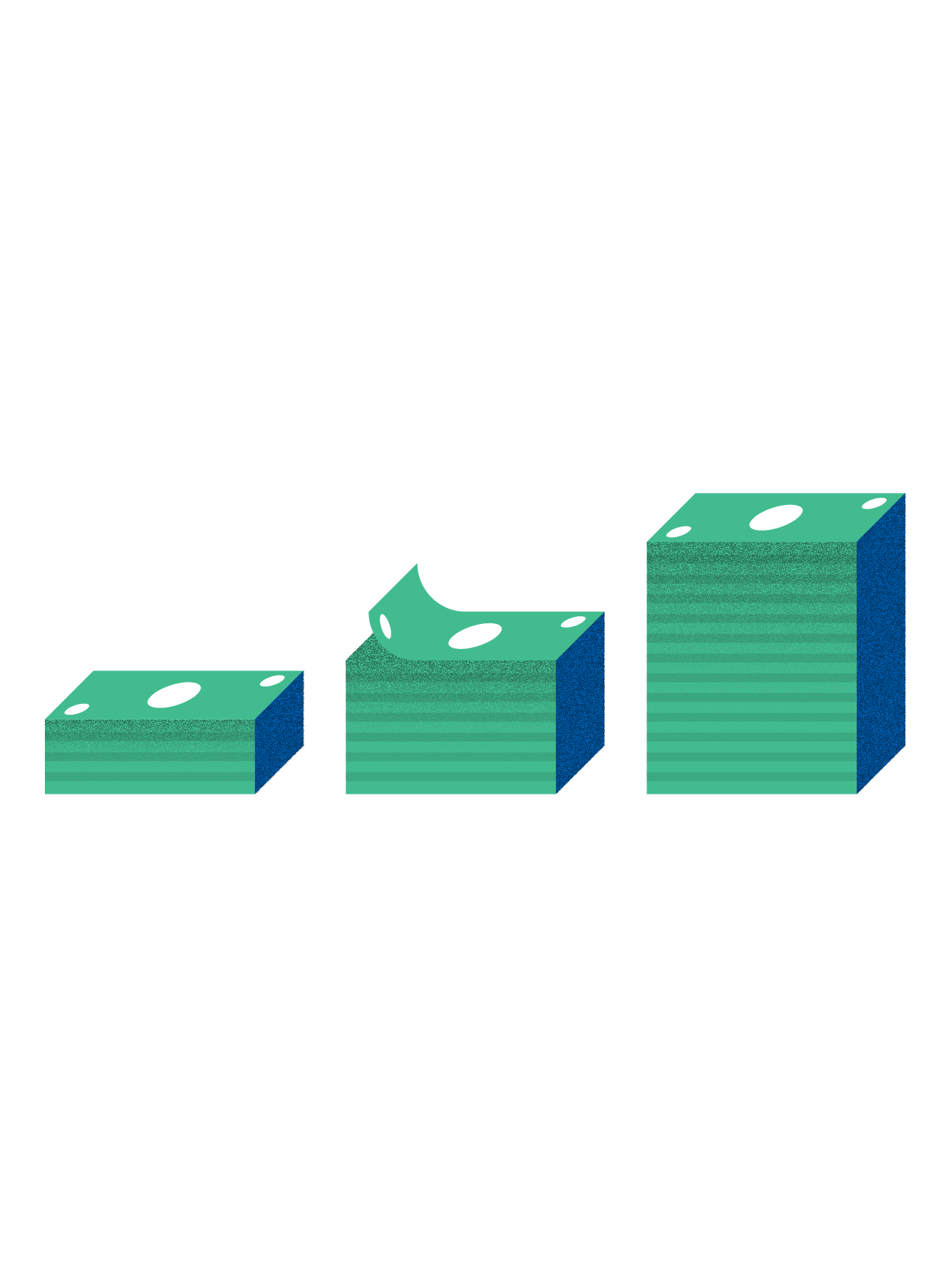 Illustration of stacks of money