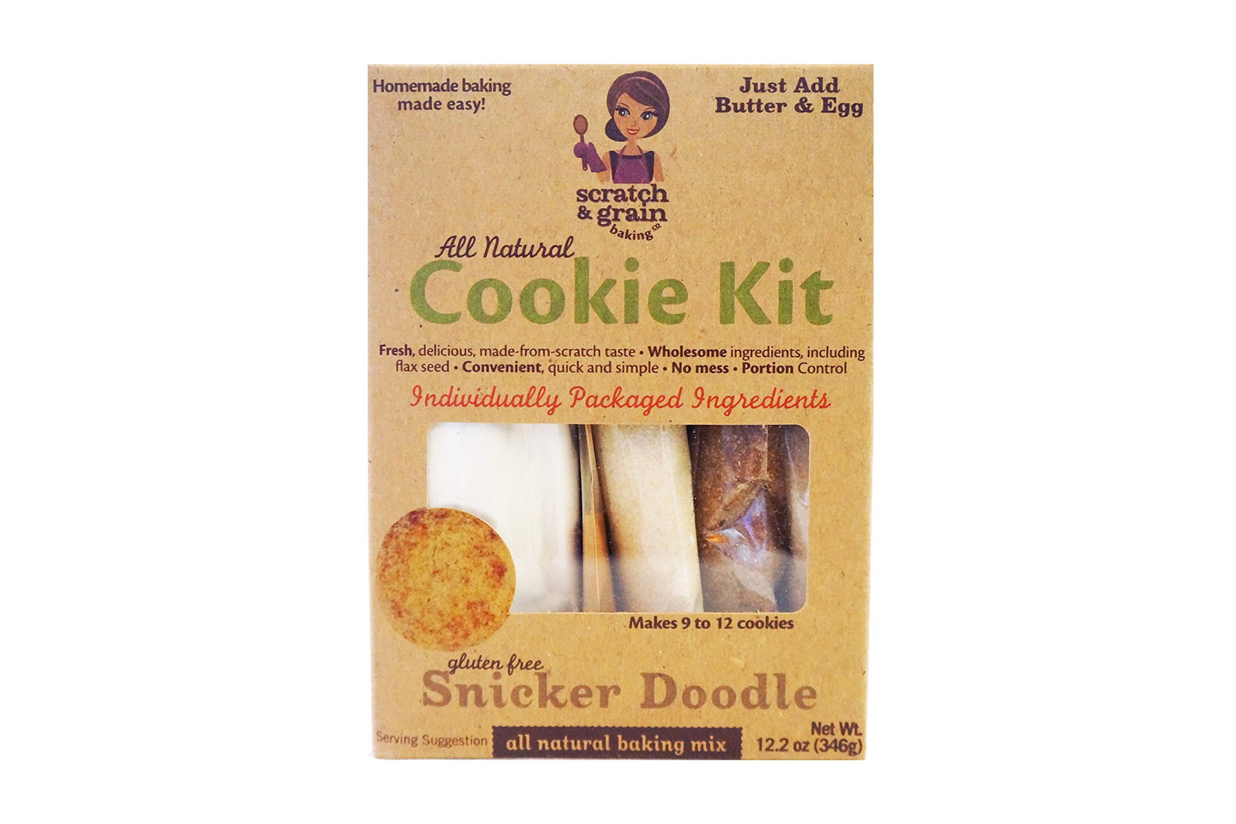 Scratch & Grain Baking Gluten-Free Snicker Doodle Cookie Kit