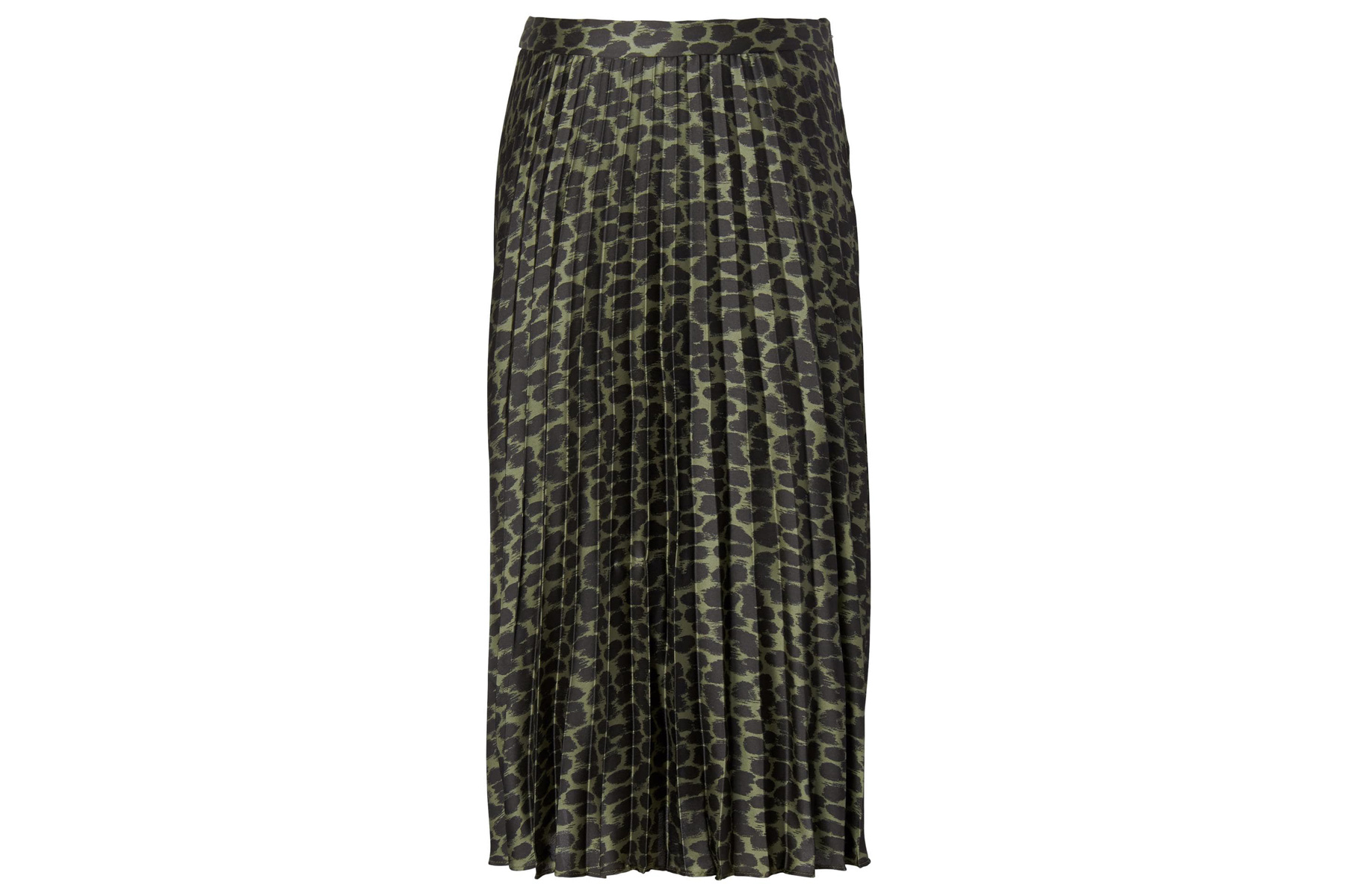 d2283ad09d Grey Chiffon Pleated Midi Skirt