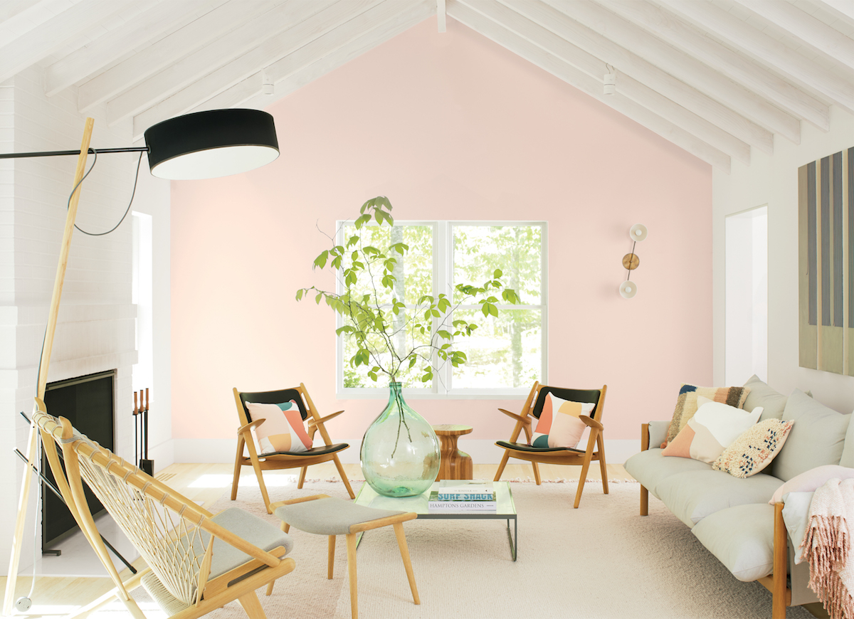 Clone of Benjamin Moore 2020 Color of the Year, Living Room