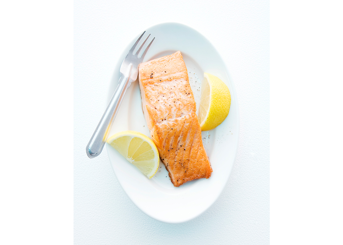 Simple cooked salmon