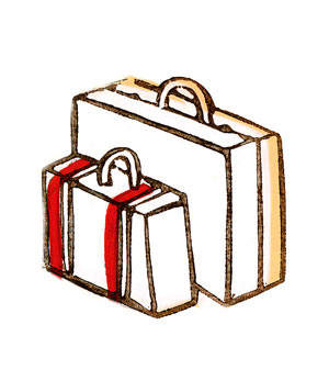 Illustration of suitcases