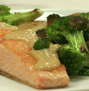 How To: Make Roasted Salmon, Broccoli, and Potatoes With Miso Sauce