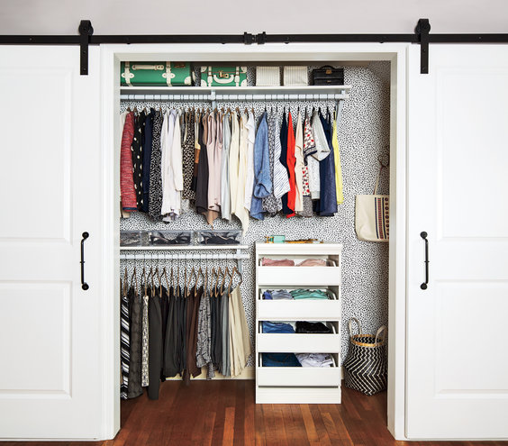 One Way To Make Your Bedroom Closet Feel Bigger Neater And All Around Better Real Simple