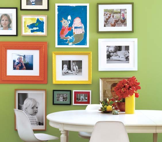 Hang Photos And Artwork On One Wall No Money Home Makeover Ideas Real Simple