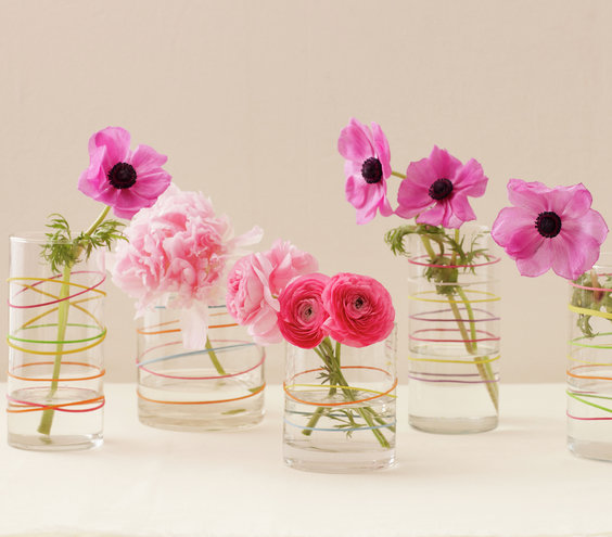 Rings around the posies minute diy centerpieces