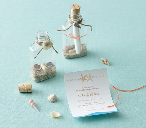 the invitation  bridal shower theme beach party ideas  real simple, invitation samples