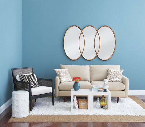 living-room-circular-mirrors