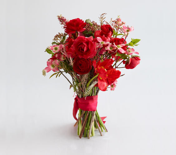 orange and red wedding flowers real simple