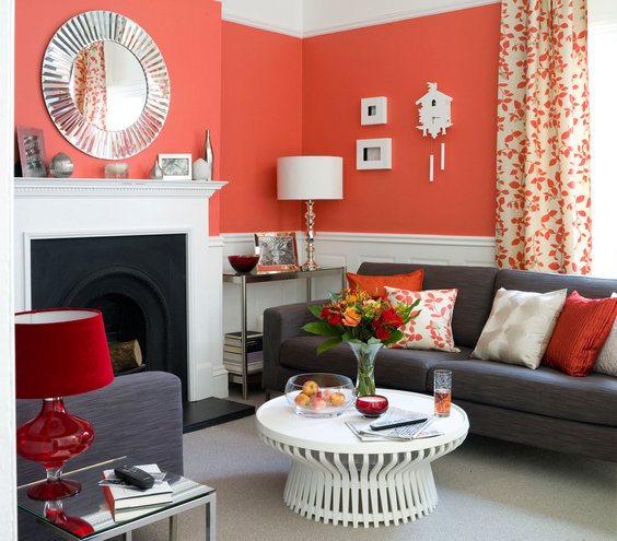 Seeing Red. Seeing Red   33 Modern Living Room Design Ideas   Real Simple