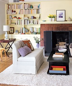 Imagine living room shelves as display space for your for Ways to arrange a small living room