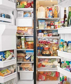 Before And After A Refrigerator Makeover Real Simple