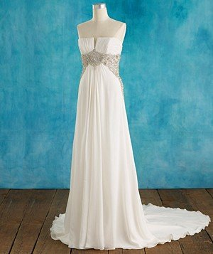 Wedding dresses if you re small chested real simple for Real simple wedding dresses