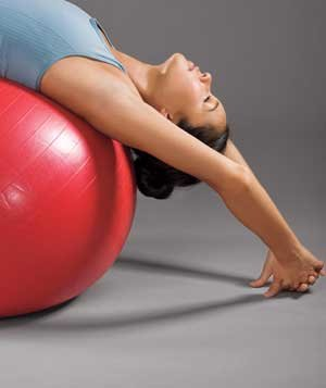 fullbody exerciseball workout in just 15 minutes  real