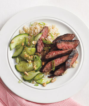 Spicy Hoisin Skirt Steak With Cucumber Salad Recipe | Real Simple