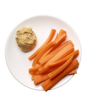 Carrot paste for 1 tablespoon of peanut butter