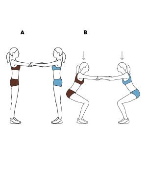 challenging partner exercises  real simple