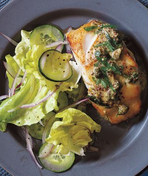 Pan fried cod with mustard caper sauce recipe real simple for Fried cod fish recipes