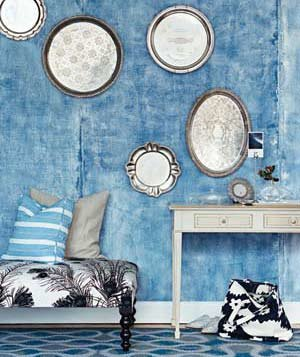 Blue And Silver Living Room Designs : Decorating With Blue  Real Simple