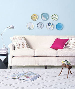 if you want an eclectic look  decorating with throw