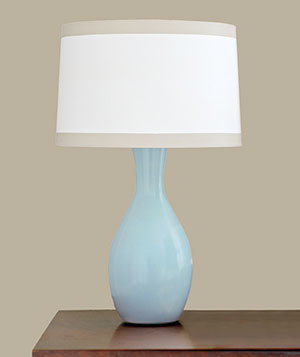 lamps and paper or fabric shades easy paint makeovers real simple. Black Bedroom Furniture Sets. Home Design Ideas