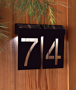 Light the way eye catching house numbers real simple for Minimalist house numbers