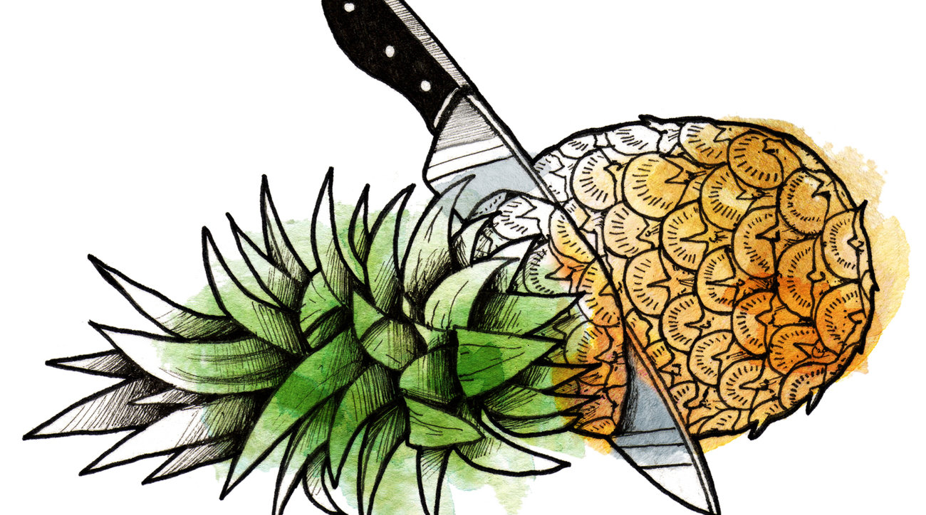 Illustration: Prepping a pineapple