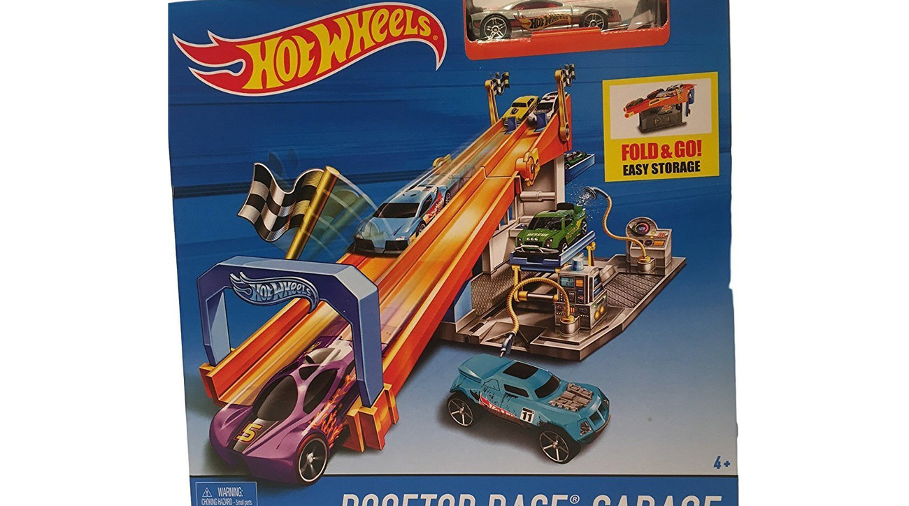 Hot Wheels Rooftop Race Garage With Tune-Up Shop