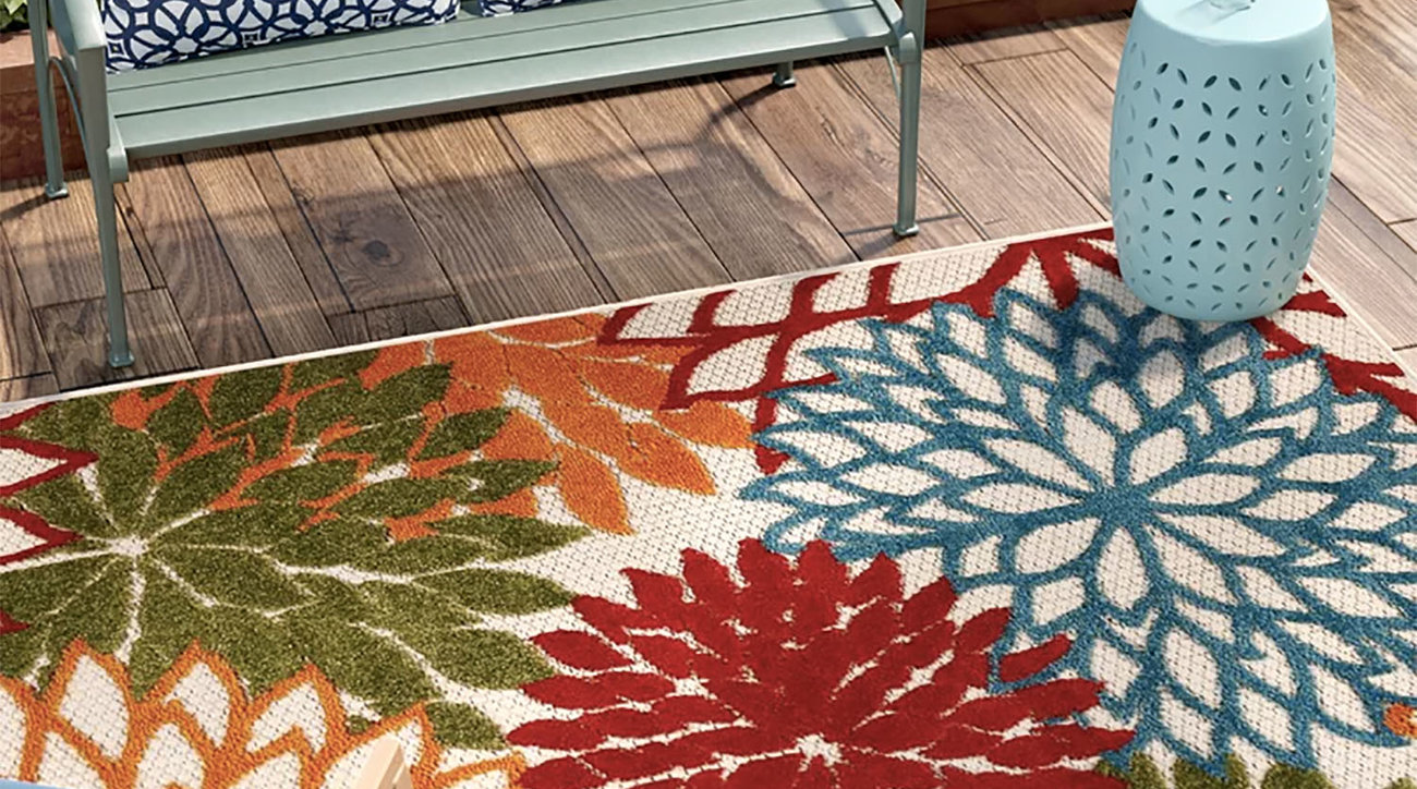 Goldhorn Green Outdoor Area Rug