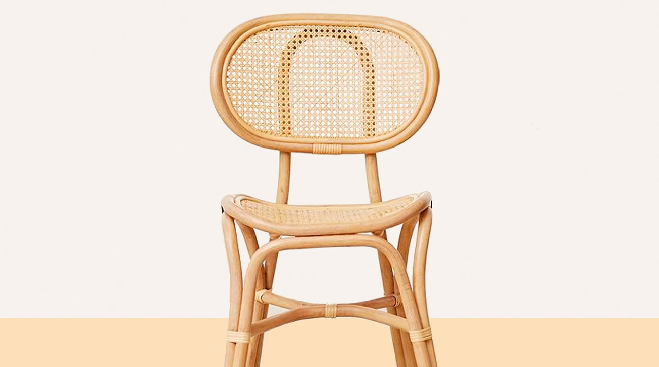 Caned chair for office furniture
