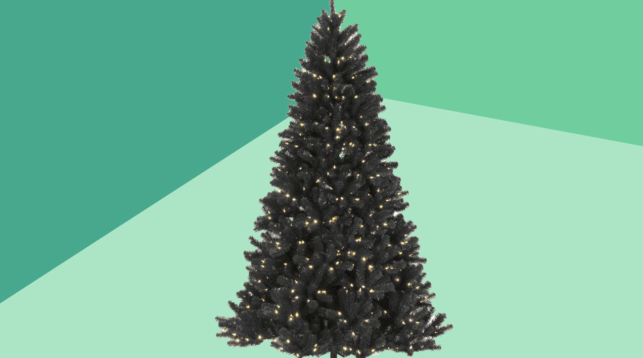 Black, White, and Colored Christmas Trees