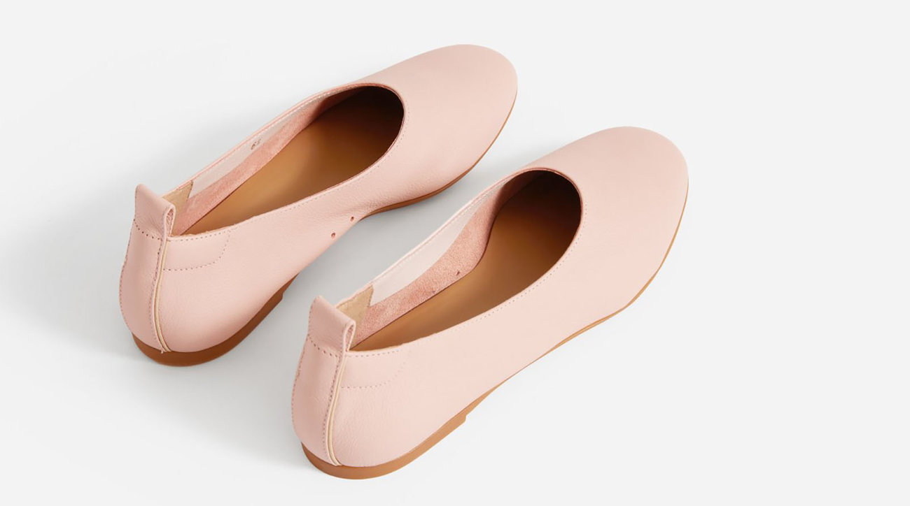 Everlane Day Glove Flats in Rose