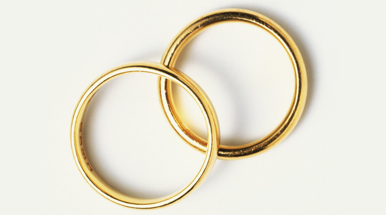 Two gold engagement rings