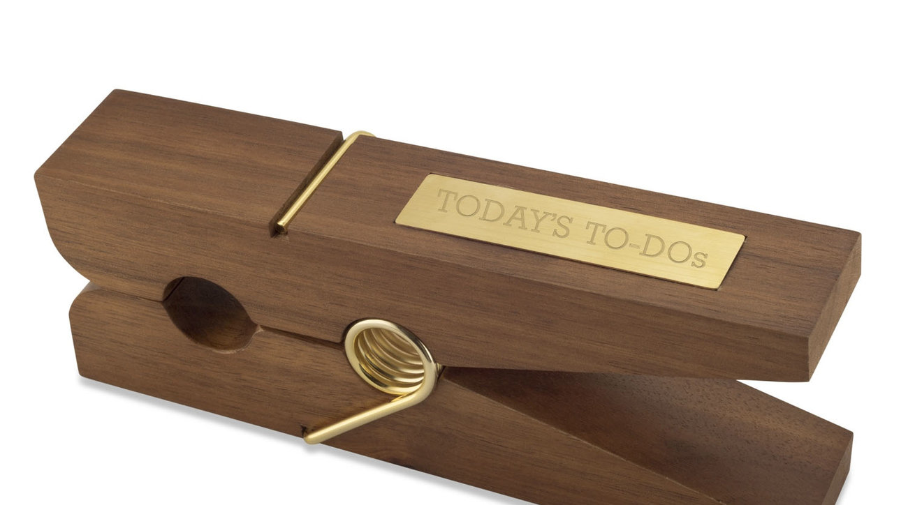 Things Remembered Oversized Clothespin Desk Accessory