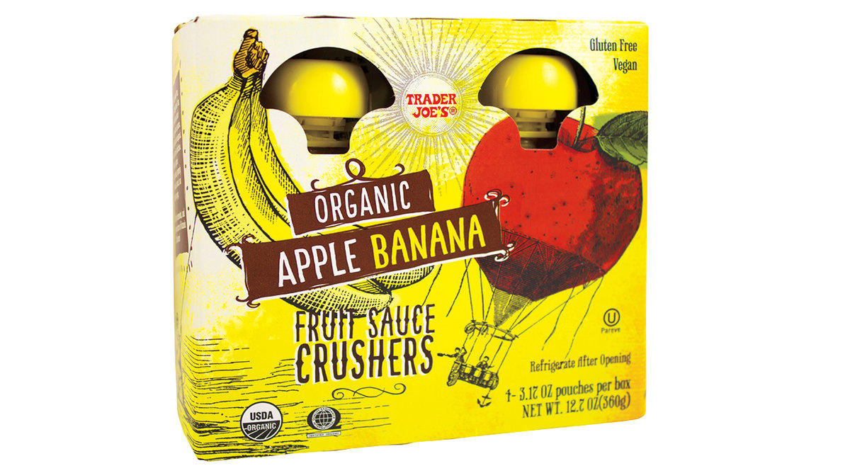 Trader Joe's Organic Apple Banana Fruit Sauce Crushers