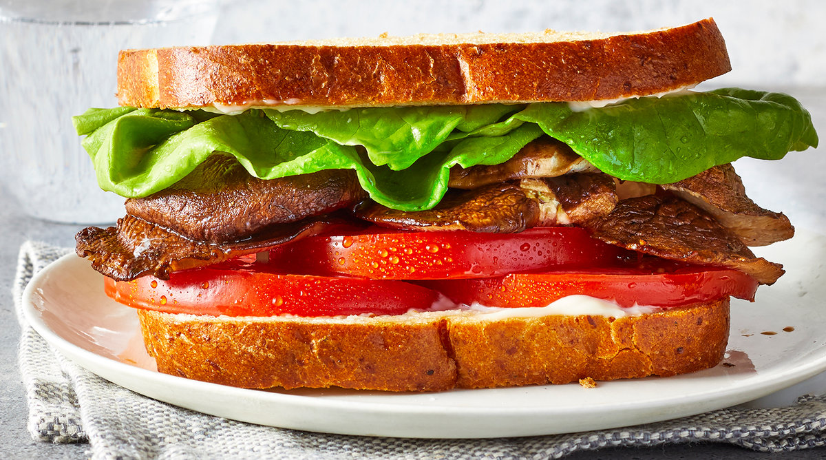 Vegetarian BLT With Shiitake Bacon