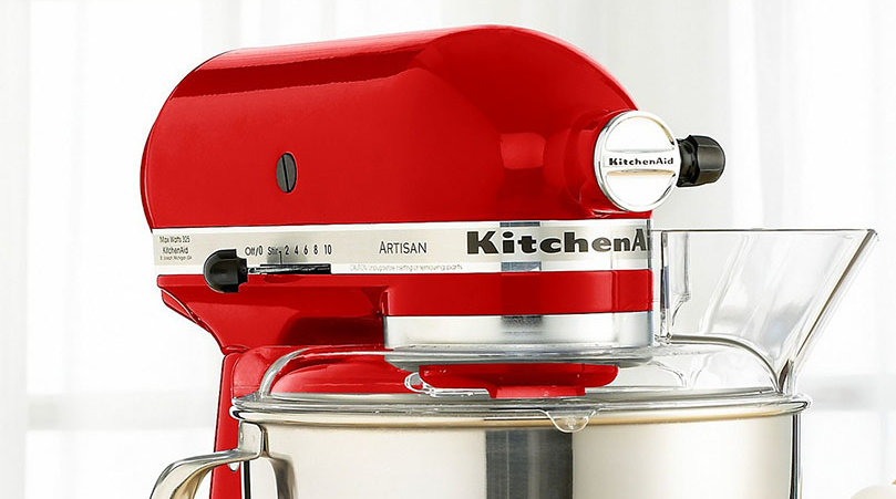 bright red kitchen aid stand mixer macys sale