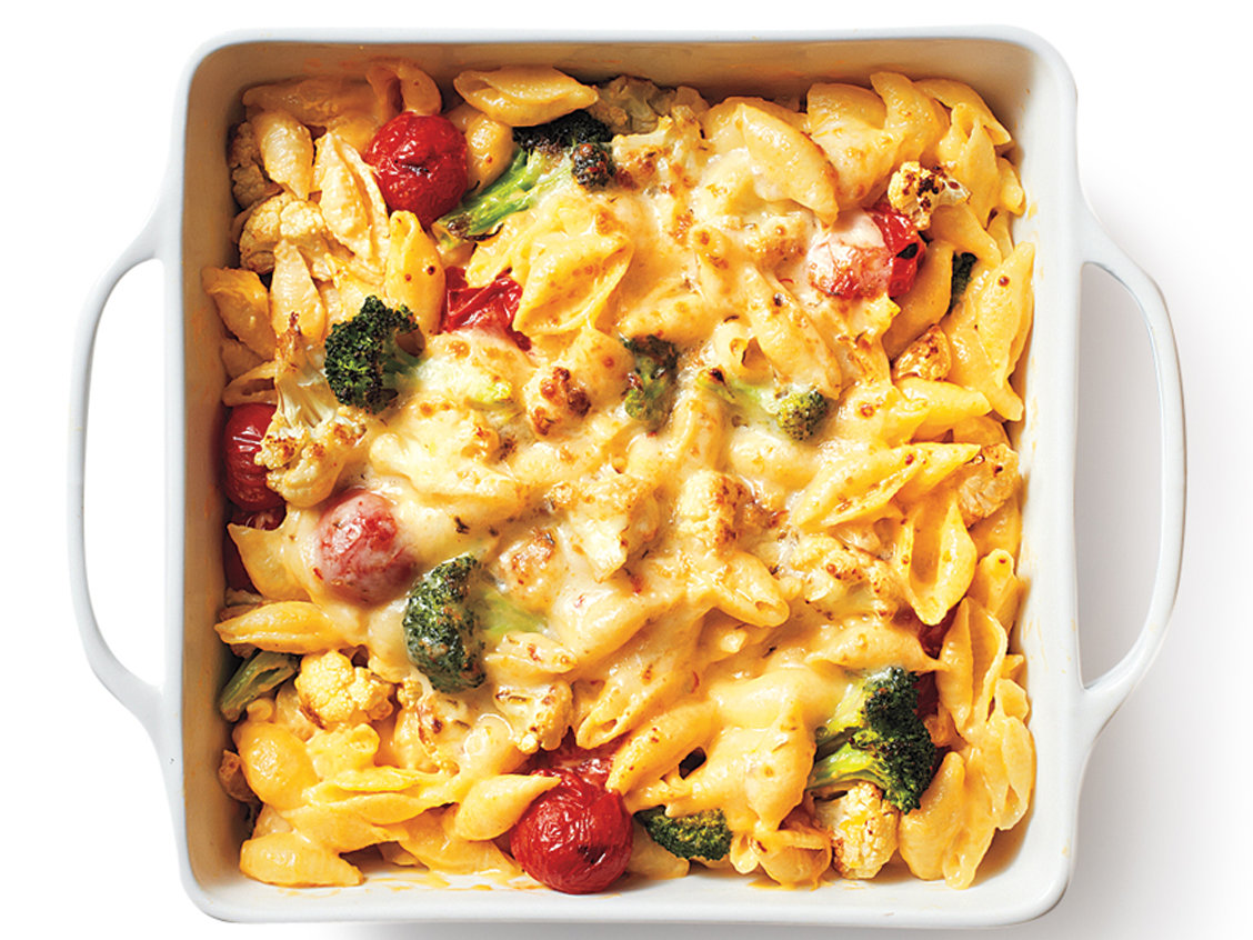 Roasted Broccoli and Tomato Mac-and-Cheese