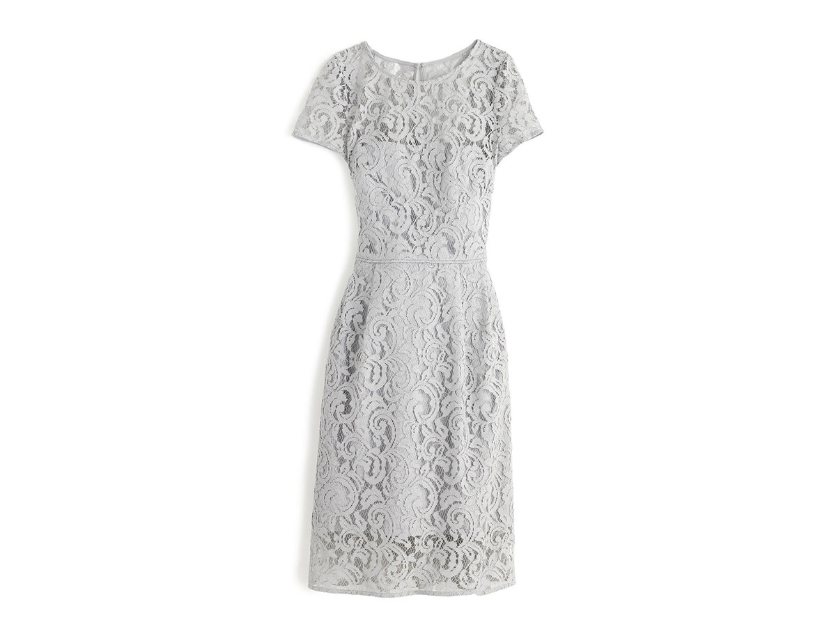 J. Crew Alisa dress in leavers lace