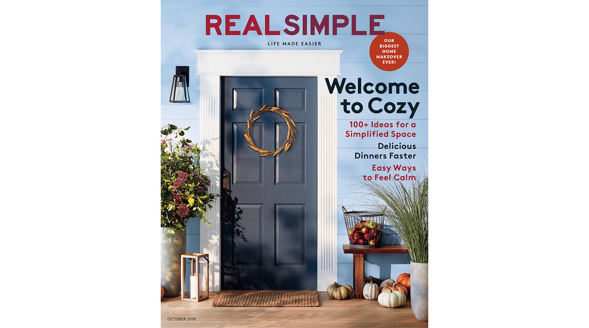 Real Simple October 2018 Cover