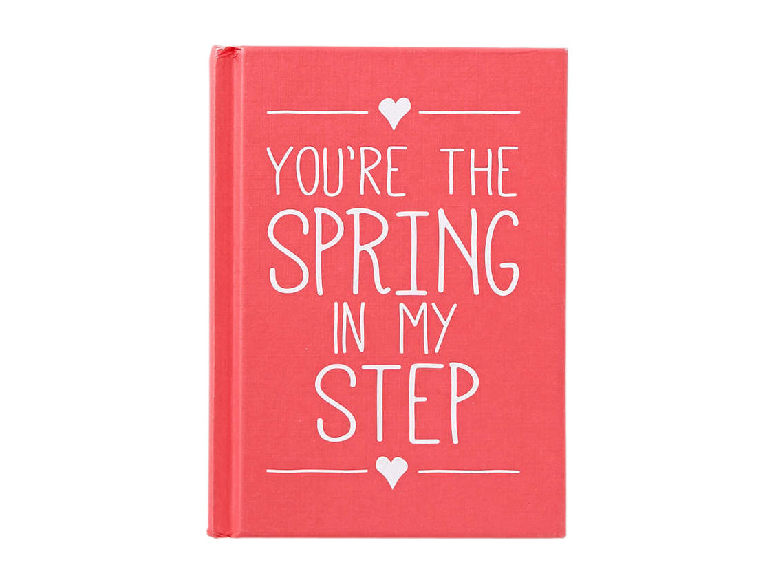 "Valentine Gifts, Gift Ideas for Men: ""You're the Spring in My Step"" Book"