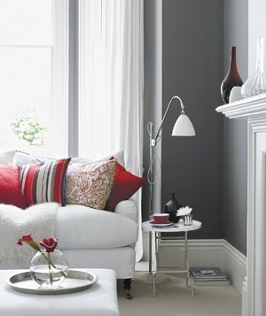 Gray and Red | Decorating With Gray | Real Simple
