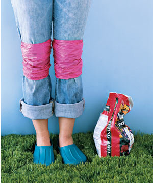 Gardeners can go easy on their jeans with homemade knee pads A