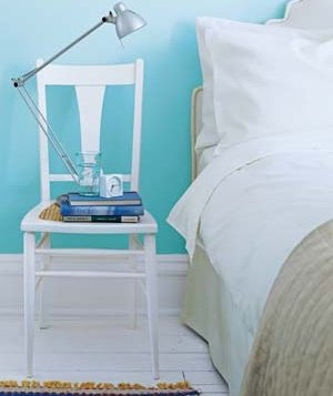 repurpose chairs as bedside tables - Chair As Bedside Table