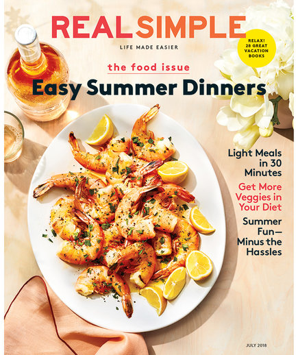 July 2018 Real Simple Cover