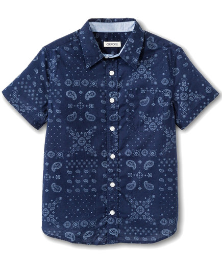 Boys' Paisley Button Down Shirt