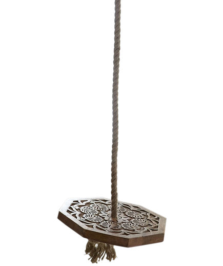 Magical Thinking Carved Wood Indoor Swing